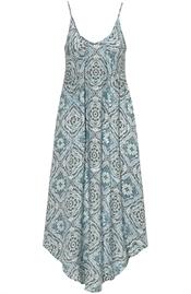 Kuva Delilah Dress Reef Blue/Coffee/Creme