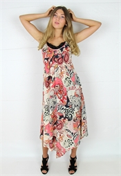 Kuva Nell Dress Sand/Asphalt/Coral