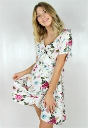 Kuva Dahlia Dress White/Rosebud
